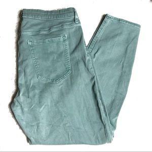 GAP Size 14/32 Green Denim Jeans Skinny Jeans